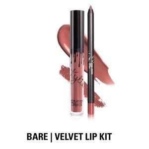 """Kylie Cosmetics Velvet Lip Kit """"Bare"""", NIB"""
